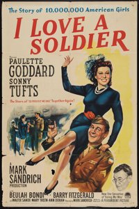 "I Love a Soldier (Paramount, 1944). One Sheet (27"" X 41""). Drama"