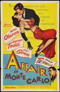 """Movie Posters:Drama, Affair in Monte Carlo (Allied Artists, 1953). One Sheet (27"""" X 41""""). Drama.. ..."""