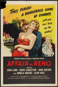 """Movie Posters:Crime, Affair in Reno (Republic, 1957). One Sheet (27"""" X 41""""). Crime.. ..."""