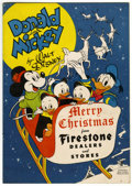 Golden Age (1938-1955):Cartoon Character, Donald and Mickey Merry Christmas (K. K. Publications, Inc., 1948)Condition: VF....