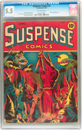Golden Age (1938-1955):Superhero, Suspense Comics #3 (Continental Magazines, 1944) CGC FN- 5.5 Off-white pages....