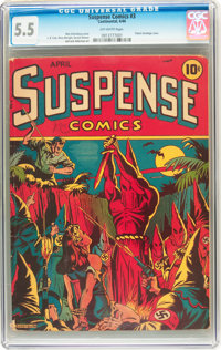 Suspense Comics #3 (Continental Magazines, 1944) CGC FN- 5.5 Off-white pages