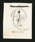 Colonial Notes:Massachusetts, Reprint of Sword in Hand Note.. ...