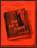 """Movie Posters:War, From Here to Eternity (Columbia, 1953). Pressbook (Multiple Pages)(12"""" X 16"""") and Advance Brochure (Multiple Pages) (9.5"""" X...(Total: 2 Items)"""