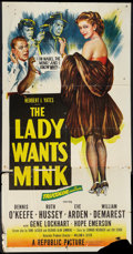 "Movie Posters:Comedy, The Lady Wants Mink (Republic, 1953). Three Sheet (41"" X 81"").Comedy.. ..."
