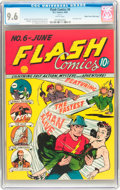 Golden Age (1938-1955):Superhero, Flash Comics #6 Mile High pedigree (DC, 1940) CGC NM+ 9.6 White pages....