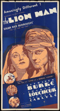 "Movie Posters:Adventure, The Lion Man (Normandy, 1936). Three Sheet (41"" X 81""). Adventure....."