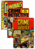 Golden Age (1938-1955):Crime, Comics - Assorted Golden Age Crime Titles Group (Various, 1940s).... (Total: 8 Comic Books)
