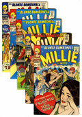 Silver Age (1956-1969):Romance, Millie the Model Group (Atlas/Marvel, 1966-67) Condition: AverageVF/NM.... (Total: 5 Comic Books)