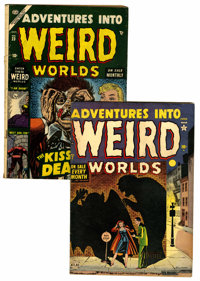 Adventures Into Weird Worlds #7 and 23 Group (Atlas, 1952-53).... (Total: 2 Comic Books)