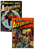 Golden Age (1938-1955):Horror, Astonishing #9 and 32 Group (Atlas, 1952-54) Condition: AverageVG+.... (Total: 2 Comic Books)