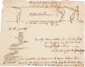"""Miscellaneous:Maps, Mason-Dixon Line: Survey Docketed """"Account of Yankeys &Virginian Claims in Pennsylvania."""" The heading of the ha..."""