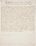 Autographs:Statesmen, [Thomas Penn] Contemporary Copy of a Letter (Unsigned) concerningthe raising of troops in Colonial America to serve in the ...