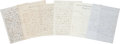 "Autographs:Statesmen, Twelve Eighteenth- and Nineteenth-Century Letters covering widetopics, such as Europe, the delivery of a ""Bust of Bonapar...(Total: 12 Item)"