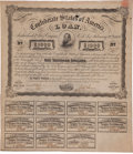 "Miscellaneous:Ephemera, Confederate $1000 Bond. One page, 14"" x 16"", issued from Richmondon March 2, 1863, and printed by Archer & Daly with an ima..."