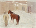 Paintings, FROM A PRIVATE COLORADO COLLECTION. WILLIAM HERBERT DUNTON (American, 1878-1936). Winter Day (La Loma - Taos), 1926. O...