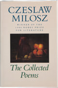 Books:Signed Editions, Czeslaw Milosz. The Collected Poems 1931-1987. New York: The Ecco Press, [1988]. First edition. Signed and dated b...