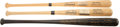 Baseball Collectibles:Bats, 1960-74 Pittsburgh Pirates Presentational Bats Lot of 3 - George Detore Collection....