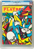 Magazines:Vintage, Playboy #10 (HMH Publishing, 1954) CGC VF- 7.5 White pages....