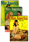 Golden Age (1938-1955):Romance, Miss America Magazine Group (Miss America Publishing/Marvel/Atlas,1946-48).... (Total: 3 )