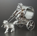 Silver Holloware, American:Napkin Rings, AN AMERICAN SILVER PLATE FIGURAL NAPKIN RING . Maker unknown, circa1865. Unmarked. 3-3/8 inches high (8.6 cm). 7.6 ounces (...