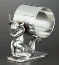 Silver Holloware, American:Napkin Rings, AN AMERICAN SILVER PLATE FIGURAL NAPKIN RING . Rogers, Smith &Co., Meriden, Connecticut, circa 1865. Marks: ROGERS SMITH...