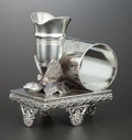 Silver Holloware, American:Napkin Rings, AN AMERICAN SILVER PLATE FIGURAL NAPKIN RING WITH BUD VASE .Rockford Silver Plate Co., Rockford, Illinois, circa 1875. Mark...