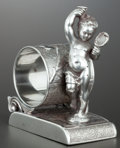 Silver Holloware, American:Napkin Rings, AN AMERICAN SILVER PLATE FIGURAL NAPKIN RING . Rockford SilverPlate Co., Rockford, Illinois, circa 1875. Marks: ROCKFORD...