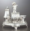 Silver Holloware, American:Napkin Rings, AN AMERICAN SILVER PLATE FIGURAL NAPKIN RING . James W. Tufts,Boston, Massachusetts, circa 1875. Marks: JAMES W. TUFTS QU...(Total: 4 Items)