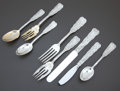 Silver & Vertu:Flatware, AN AMERICAN SILVER AND SILVER GILT FLATWARE SERVICE . Gorham Manufacturing Co., Providence, Rhode Island, circa 1885. Marks:... (Total: 31 Items)