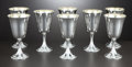 Silver Holloware, American:Water Goblet, A SET OF EIGHT AMERICAN SILVER AND SILVER GILT GOBLETS . AlvinCorporation, Providence, Rhode Island, circa 1990. Marks:...(Total: 8 Items)
