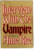 Books:Signed Editions, Anne Rice. Interview With the Vampire. New York: Alfred A. Knopf, 1976. First edition. With a bookplate signed in ...
