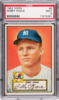 Baseball Cards:Singles (1950-1959), 1952 Topps Bobby Hogue #9 PSA Mint 9 - Pop Two With None Higher!...