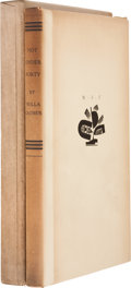 Books:Signed Editions, Willa Cather. Not Under Forty. New York: Alfred A. Knopf,1936. First edition limited to 333 copies of which this is...