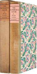 Books:Signed Editions, Willa Cather. The Professor's House. New York: Alfred A.Knopf, 1925. First edition limited to 225 of which this is ...