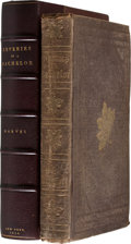 Books:First Editions, [Donald G. Mitchell]. Ik. Marvel. Reveries of a Bachelor: Or ABook of the Heart. New York: Baker & Scribner, 1850. ...