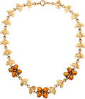 Estate Jewelry:Necklaces, Citrine, Gold Necklace, Tiffany & Co.. ...