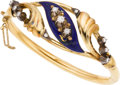 Estate Jewelry:Bracelets, Diamond, Enamel, Silver-Topped Gold Bracelet. ...