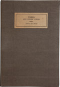 Books:First Editions, Joyce Kilmer. Trees and Other Poems. New York: George H.Doran Company, 1914. First edition, first issue. Trivia...