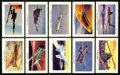 "Non-Sport Cards:Sets, 1959 F223-1 Sicle Trading Cards ""Air Force Airplanes"" Complete Set(76). ..."