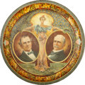Political:3D & Other Display (1896-present), Bryan & Stevenson: Most Desirable Design of Colorful 1900 Tin Tray. ...