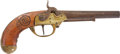 Military & Patriotic:Revolutionary War, French M1777 .69 Caliber Smooth Bore Martial Pistol Converted toPercussion Utilizing a Drum....