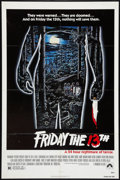 """Movie Posters:Horror, Friday the 13th (Paramount, 1980). One Sheet (27"""" X 41""""). Horror.. ..."""