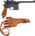 "Military & Patriotic:WWI, Mauser Banner Broomhandle Late 1930 Commercial Model With Holster/ Stock Rig. Cal. 7.63mm. Serial Number 913501. 5½"" Barre..."