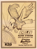 Music Memorabilia:Posters, Eagles/Jimmy Buffet Aloha Stadium Concert Poster (K59 Radio,1979)....