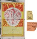 Music Memorabilia:Posters, Northern California Folk-Rock Festival Handbill and Ticket StubGroup (1969).... (Total: 3 )