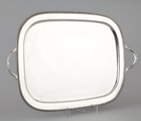 AN AMERICAN SILVER TRAY C.E. Odgers, 20th century Marks: C.E. ODGERS, STERLING, HAND MADE 1-3/4 x