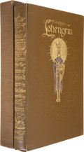 Books:Fiction, [Willy Pogany]. [Richard Wagner]. T. W. Rolleston. The Tale ofLohengrin. Knight of the Swan. London: G. G. Harr...