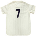 Autographs:Jerseys, Early 1990's Mickey Mantle Signed Jersey....