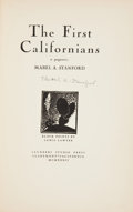 Books:First Editions, Mabel A. Stanford. The First Californians. A Pageant.Block prints by Lewis Lawyer. Claremont, California: Saund...